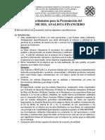 Requerimientos Del Informe Del Analista