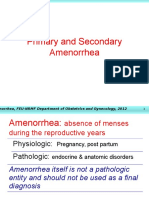 Amenorrhea Updated