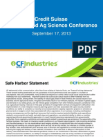 CF Industries Presentation Sept 17 2013