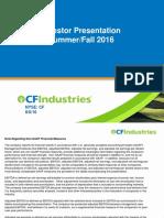 CF Industries Presentation August 8 2016