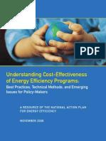 Understanding Cost-Effectiveness of Energy Efficiency Programs