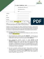 Memorandum Entrega Vehiculo Neoagrum