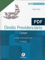 Previdenciário - CESPE Questões Comentadas pelo Autor  - Hugo Goes - 2016.pdf