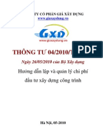 Thong Tu 04/2010/TT-BXD