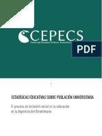 Informe CEPECS Sobre Población Universitaria