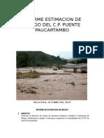 Informe Estimacion de Riesgo de Paucartambo