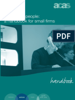 Employing People a Handbook for Small Firms Accessible Version