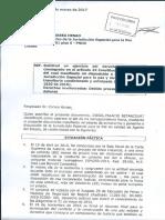 Solicitud de Diego Palacio a la JEP