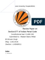 Constitutionality of Section 377 of IPC