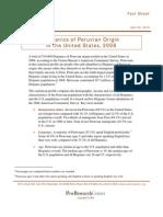 Hispanics of Peruvian Origin in the United States
