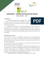 Regulamento Ponte de Palito 2013