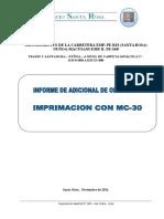 Informe Modelo Adicional Con Deductivo Vinculante Supervision