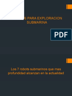 Robots Para Exploracion Submarina