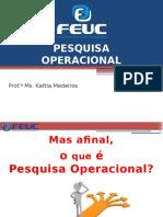 Aula 1 Pesquisa Operacional
