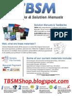 TBSM - TestBanks & Solution Manuals