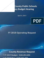 CCPS Budget April 4 2017 Agency Hearing