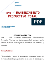 Tpm - Mantenimiento Productivo Total
