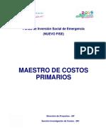 Gua de costos No. 11 - Catlogo de Costos unitarios Primarios.pdf