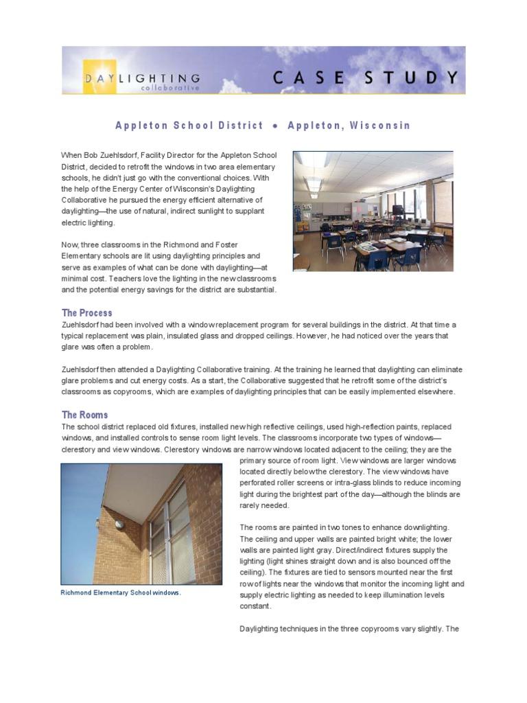 Day Lighting Schools: Good Grades and Good Behavoir