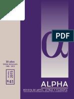 La Patagonia Como Versión de Una Distancia. Mellado Luciana ALPHA41