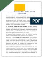 Analisis Laboral Casacion 4596-2012