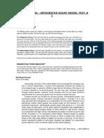 TOEFL WRITING Integrated Essay - B Model Test 1