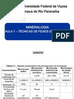 Mineralogia Aula 7 Tecnicas de Feixe de Elétrons