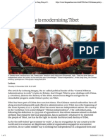 Chinese policy is modernising Tibet | Letter from Zeng Rong of the Chinese embassy | World news | The Guardian