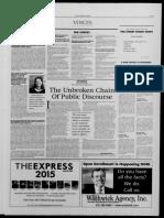"""The Unbroken Chain of Public Discourse"""