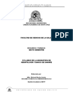 Syllabus Hematología i 2017
