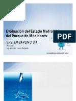 Evaluación del Estado Metrológico Del Parque de Medidores EMSAPUNO