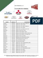 Lista II de Precios Mayo 2015