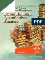 BCom Hons Quantitative Finance Brochure