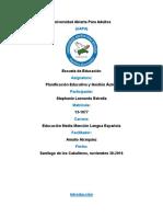 Tarea III, Planificacion Educativa