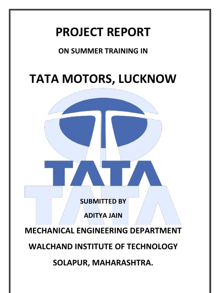 tata motors summer internship