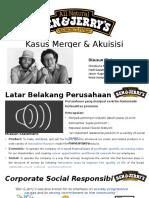 Ben and Jerry's - Kasus Merger & Akuisisi