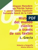 Historia Del Mundo Clasico a Tr - Adolfo Jeronimo Dominguez Moned