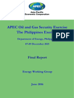 APEC Oil and Gas Security Exercise - The Philippines Exercise
