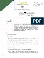 Directiva Presidencial Secreta 29 de 2005 FALSOS POSITIVOS