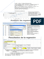 Regresion en Excel Interpretacion