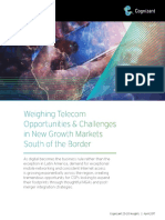 Weighing Telecom Opportunities & Challenges in New Growth Markets South of the Border