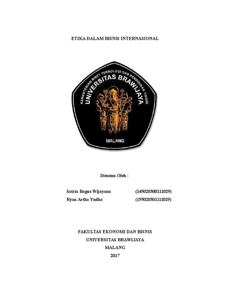 BAB 11 MAKALAH ETIKA DALAM BISNIS INTERNASIONAL.docx