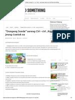 _Dongeng Sunda_ Sareng Ciri - Ciri , Rupi - Rupi Jeung Contoh Na _ Just Shared Something