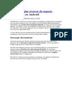 Cómo Arreglar El Error de Espacio Insuficiente en Android