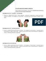 Ejercicios de Relajacion Cervical