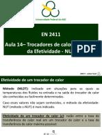 EN2411 - Aula 10 (Trocadores de Calor E-NUT)