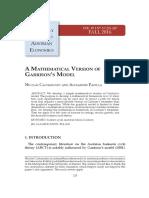 A Mathematical Version of Garrison's Model