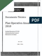 Plan Operativo Anual 2010 del Ministerio de Salud