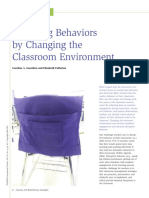 article- changing behaviors by changing the classroom environment