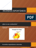 INCENDIOS ESPONTÁNEOS
